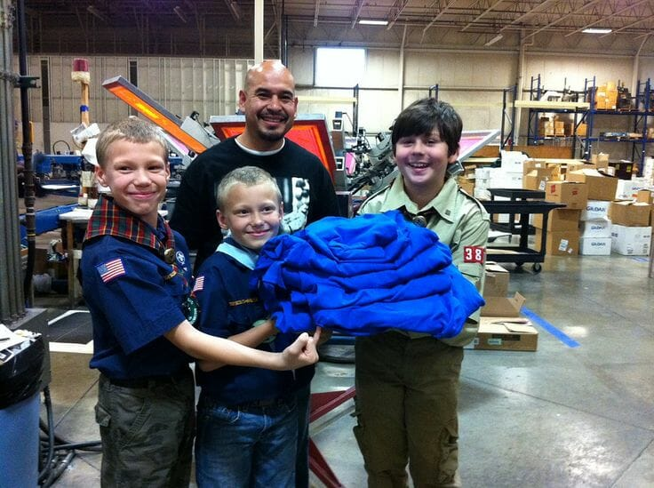 Cub Scouts on Shop Floor - Marshall Atkinson