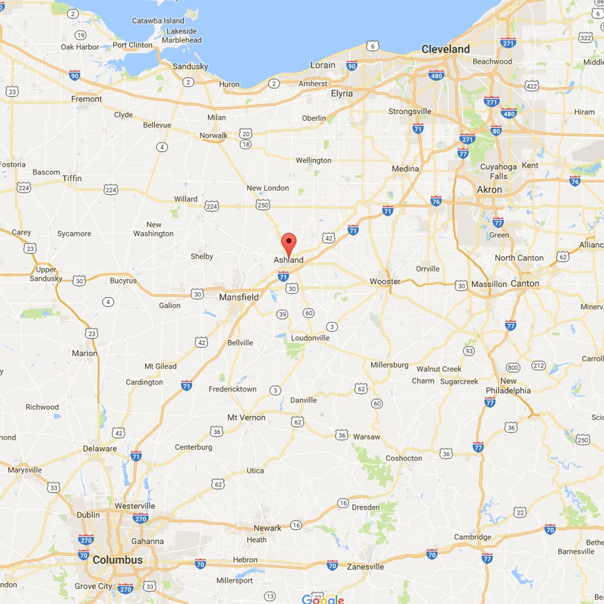 ashland-ohio-map