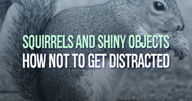 Squirrels and Shiny Objects: How Not To Get Distracted