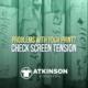 Check Screen Tension