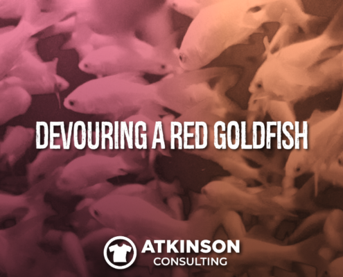 Devouring a Red Goldfish